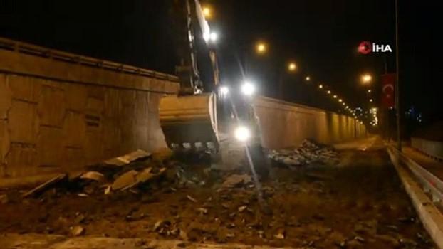 asiri yagis -  Kahramanmaraş'ta yol çöktü