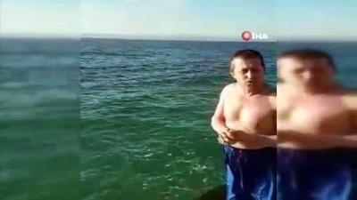 allah -  Kışın ortasında şifa niyetine denize girdi