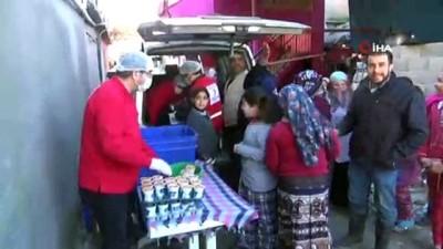 sili -  Kızılay'dan Amik Ovası'nda sel felaketinden etkilenen vatandaşlara yemek yardımı