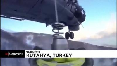 kar yagisi - Kütahya'da tipiye yakalanan 4 kişiye helikopterli kurtarma operasyonu