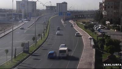 Trafik kazaları MOBESE kameralarında - ŞANLIURFA