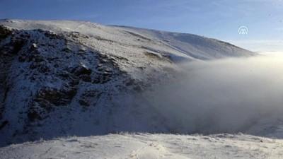 kar yagisi - Çıldır'da yoğun sis güzel görüntü oluşturdu - ARDAHAN