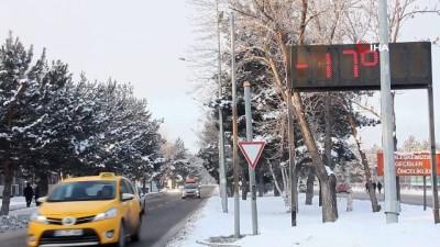 kar yagisi -  Doğu Anadolu'da Sibirya soğukları: Göle eksi 29 derece