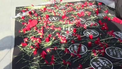 insan zinciri - Hrant Dink, Agos gazetesi önünde anıldı - İSTANBUL
