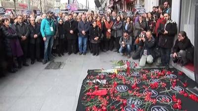 basin aciklamasi -  Hrant Dink, Agos Gazetesi önünde anıldı