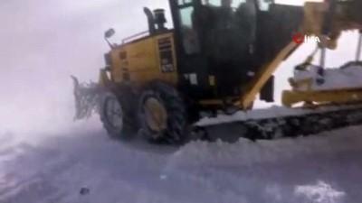 Kar yağışı ve tipi Iğdır'da etkisini arttırdı...23 köy yolu ulaşıma kapandı