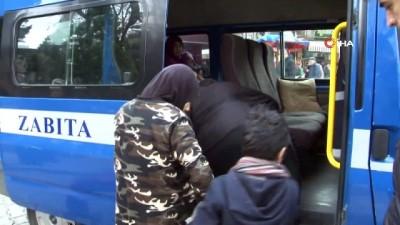 kimlik tespiti -  Samsun'da yabancı uyruklu dilenci operasyonu