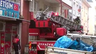 polis -  Aydın'da mahalleliyi korkutan baca yangını