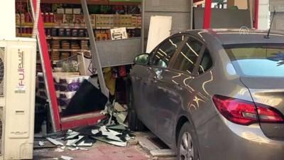 Otomobil markete girdi - KAHRAMANMARAŞ
