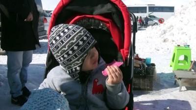 Yedikuyular Kayak Merkezi yarıyıl tatilinde ziyaretçi akınına uğradı