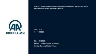 Bursa merkezli uyuşturucu operasyonu