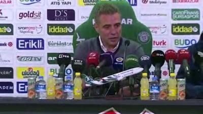 Bursaspor-Fenerbahçe maçının ardından - Ersun Yanal (1) - BURSA