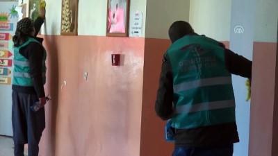 bassavcilik - Denetimli serbestlik yükümlüleri okulların bakımını yapıyor- ŞANLIURFA/MARDİN/HAKKARİ