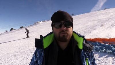 'Kış manzaralı' yamaç paraşütü - ERZİNCAN