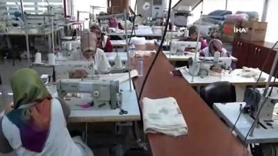 Konya Büyükşehir Belediyesi, atölyelerinde 1 milyon bez torba üretiyor