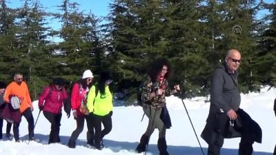 Toroslar'ın zirvesinde kar yürüyüşü - MERSİN
