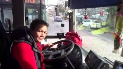 Bandırma'nın ilk ve tek kadın otobüs şoförü
