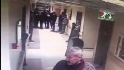 Hasta yakınlarıyla güvenlikçiler birbirine girdi... O anlar kamerada