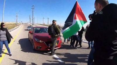 İsrail güçlerinden 'ırkçı yol' protestosuna müdahale - RAMALLAH