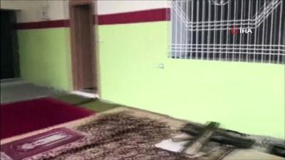 Teröristlerin cami yanında yaptıkları ilk yardım sığınağı imha edildi