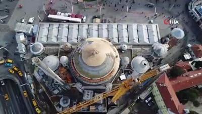Taksim Camii ve Topçu Kışlası alanı havadan görüntülendi