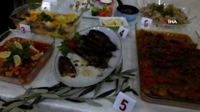 Burhaniye'de zeytinyağlı yemekler yarıştı