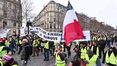 hukumet karsiti - Fransa'da sarı yelekliler gösterilerin 11'inci haftasında sokaklarda - PARİS