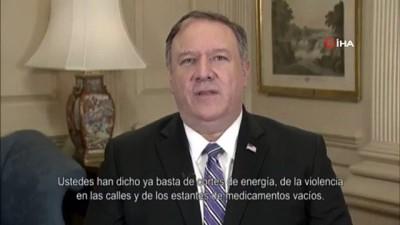 - Pompeo'dan İspanyolca video: 'Venezuela'ya demokrasiyi geri getirmek için çalışıyoruz'