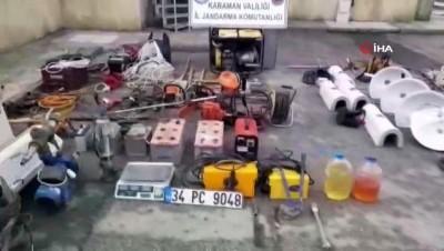 insaat malzemesi -  Karaman'da hırsızlık zanlısı 3 kişiden 2'si tutuklandı