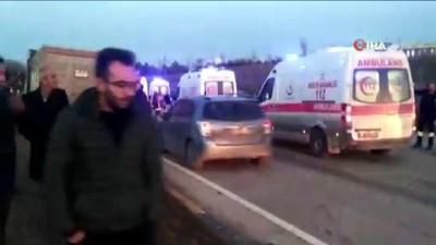 Ankara-Çankırı karayolunda trafik kazası: 1 ölü, 4 yaralı