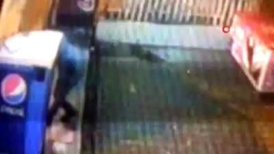 Dükkanların önünde ki ekmekleri çalan hırsız kameraya böyle yakalandı