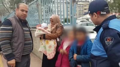 Küçük çocukları dilendiren yabancılara operasyon