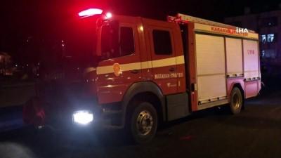 Karaman'da park halindeki otomobilde yangın çıktı