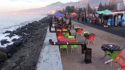 Sahilde kurulan sobalar kaldırıldı - RİZE