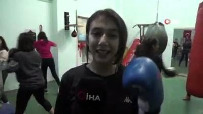 boksor - Siirtli kadın boksörler Türkiye Şampiyonasına hazırlanıyor
