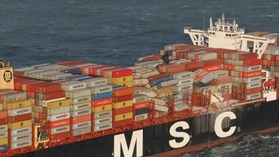 argo -  | Hollanda açıklarında gemi kazası: Kimyasal madde alarmı verildi