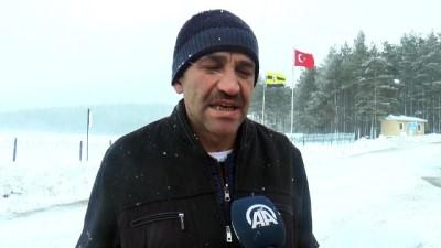 Kar yağışı etkisini sürdürüyor - DÜZCE