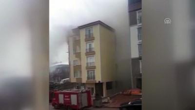 6 katlı binada yangın - BİLECİK
