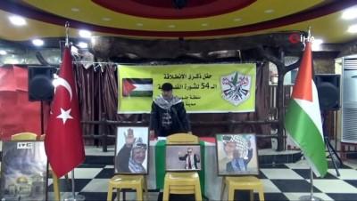 Kilis'te Filistin Ulusal Kurtuluş Hareketi'nin 54. kuruluş yıldönümü kutladı