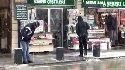 Konya'da kar, kartpostallık görüntüler ortaya çıkardı
