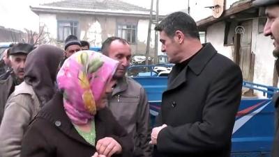 MHP Milletvekili Yılmaz'dan evi yanan aileye ziyaret - DÜZCE