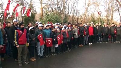 Yüzlerce genç ellerinde bayraklarla Sarıkamış Şehitleri için yürüdü