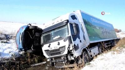 - Aksaray'da otomobil ile tır çarpıştı: 1 polis ağır yaralı