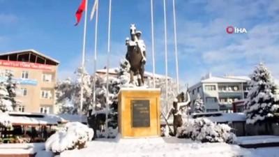 Kar yağışı sonrası Kırşehir beyaza büründü