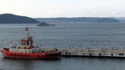 Rus askeri gemisi Çanakkale Boğazı'ndan geçti - ÇANAKKALE