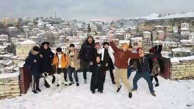 Safranbolu'da konaklar beyaza büründü (2) - KARABÜK
