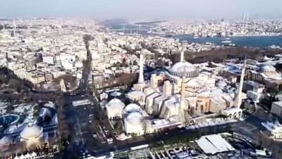 İstanbul'dan kar manzaraları havadan görüntülendi - İSTANBUL