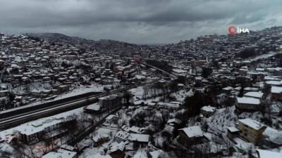 Zonguldak beyaz gelinliğiyle havadan görüntülendi