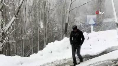 Şırnak'ta çığ düştü, köy yolu ulaşıma kapandı