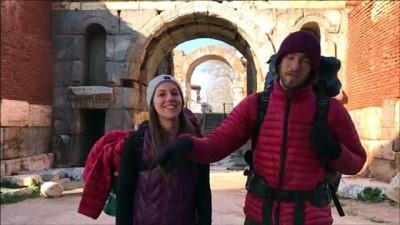 sahit - Sufi Yolu'nu yürüyen Amerikalı gezginler İznik'ten geçti - BURSA